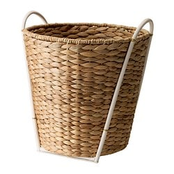 KASTANJENÖT plant pot, white, water hyacinth Outside diameter: 38 cm Max. diameter flowerpot: 32 cm Height: 43 cm