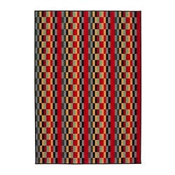 "HELSINGE rug, low pile, multicolor Length: 7 ' 7 "" Width: 5 ' 3 "" Surface density: 6 oz/sq ft Length: 230 cm Width: 160 cm Surface density: 1700 g/m²"