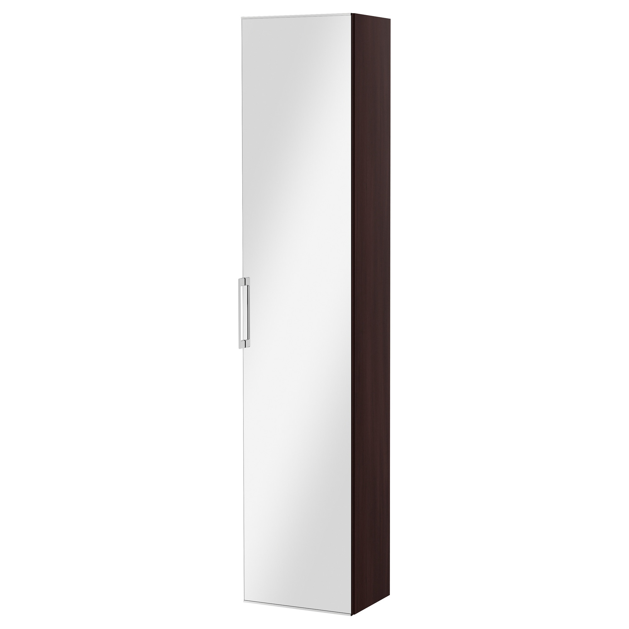Bathroom wall cabinets ikea - Godmorgon High Cabinet With Mirror Door Walnut Effect Width 40 Cm Depth 32