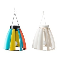 "SOLVINDEN solar/wind-powered pendant lamp Max. diameter: 12 1/4 "" Min. diameter: 5 1/8 "" Total height: 11 3/4 "" Max. diameter: 31 cm Min. diameter: 13 cm Total height: 30 cm"