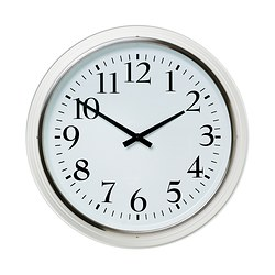 "BRAVUR wall clock, white Depth: 3 ¼ "" Diameter: 23 ¼ "" Depth: 8 cm Diameter: 59 cm"