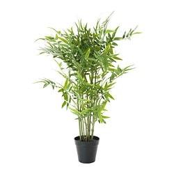 FEJKA artificial potted plant, bamboo Diameter of plant pot: 12 cm Height: 63 cm