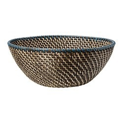 FINKORNIG bowl, turquoise, black Diameter: 36 cm Height: 14 cm