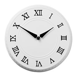PYNTA wall clock, white Depth: 5 cm Diameter: 25 cm