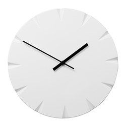 VATTNA wall clock, white Depth: 2.5 cm Diameter: 30 cm