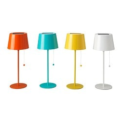 SOLVINDEN solar-powered table lamp Total height: 42 cm Shade diameter: 16.0 cm Shade height: 11.5 cm