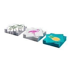 SOMMARFINT paper napkin, assorted designs Length: 24 cm Width: 24 cm Package quantity: 30 pieces
