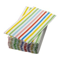 SOMMARFINT paper napkin, assorted designs Length: 38 cm Width: 38 cm Package quantity: 30 pieces