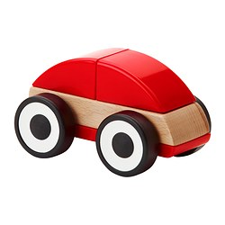 LILLABO toy car, red Length: 11 cm Width: 7 cm Height: 7 cm