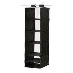 SKUBB storage with 6 compartments, black