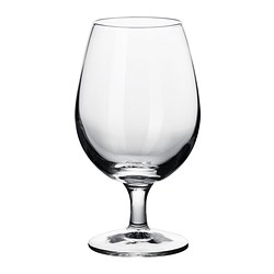 ÅTRÅVÄRD beer glass with stem, clear glass Height: 17 cm Volume: 52 cl