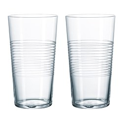 STOCKHOLM glass, patterned, clear glass Volume: 17 cl Package quantity: 2 pack