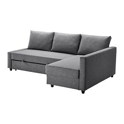 Friheten Corner Sofa Bed With Storage Skiftebo Dark Gray