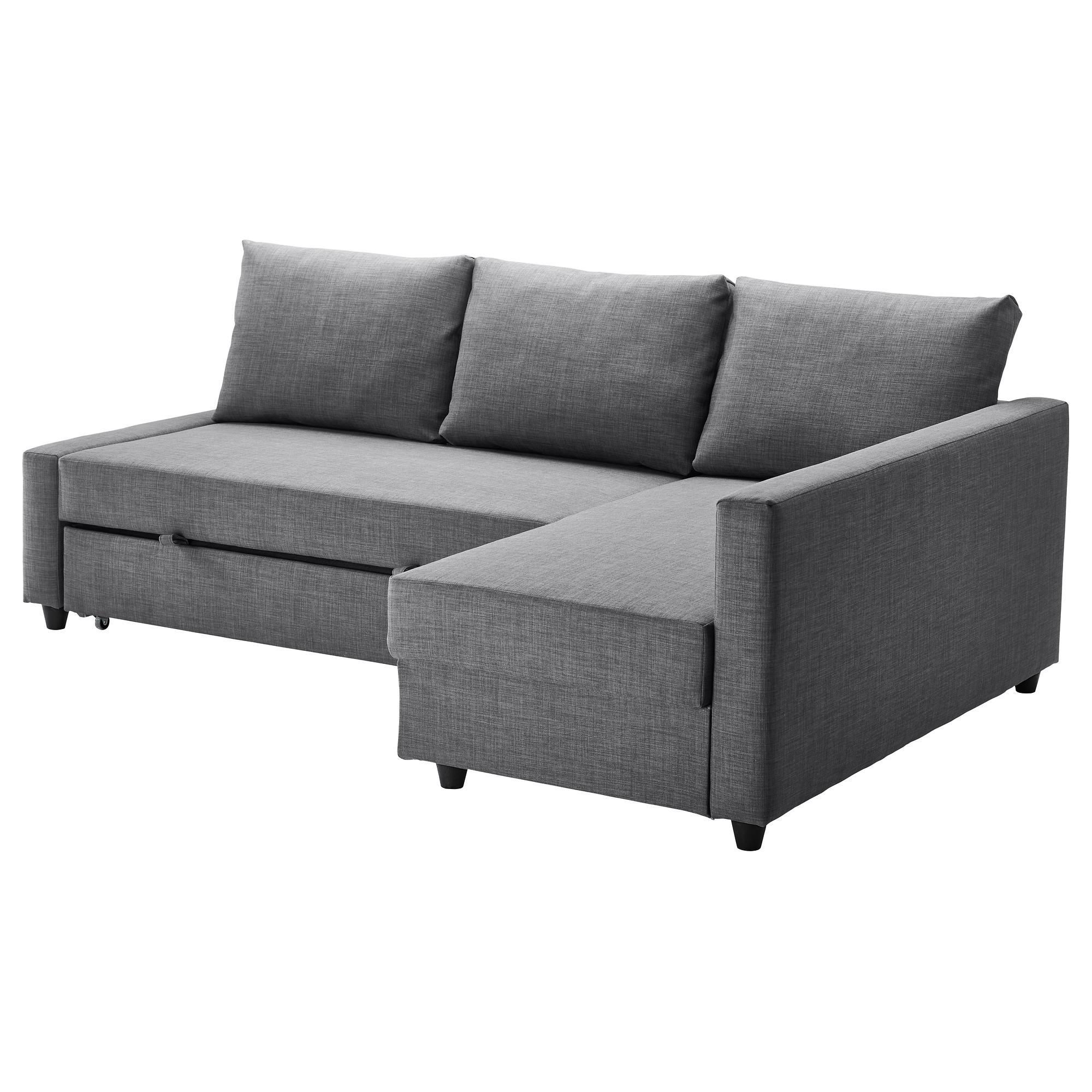 FRIHETEN sleeper sectional,3 seat w/storage, Skiftebo dark gray Length: 90