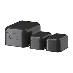 SNIKA box with lid, set of 3