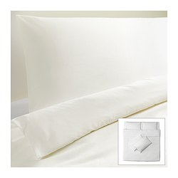 DVALA quilt cover and 4 pillowcases, white Quilt cover length: 220 cm Quilt cover width: 240 cm Pillowcase length: 50 cm