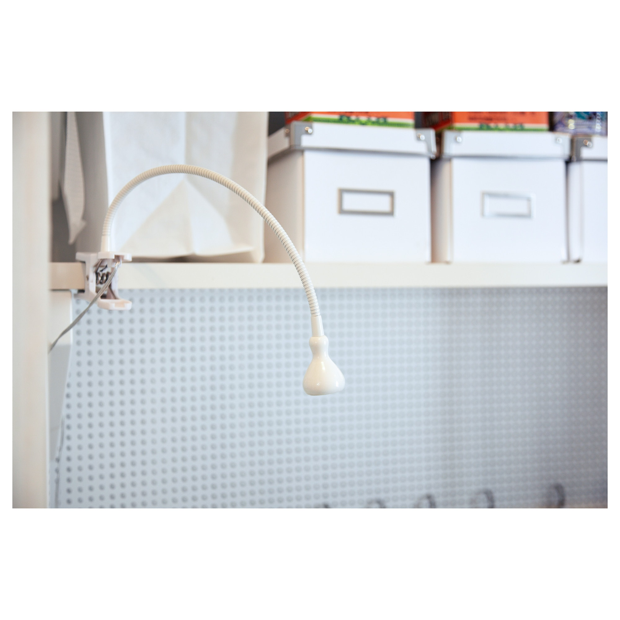 jansjà led wall clamp spotlight white ikea