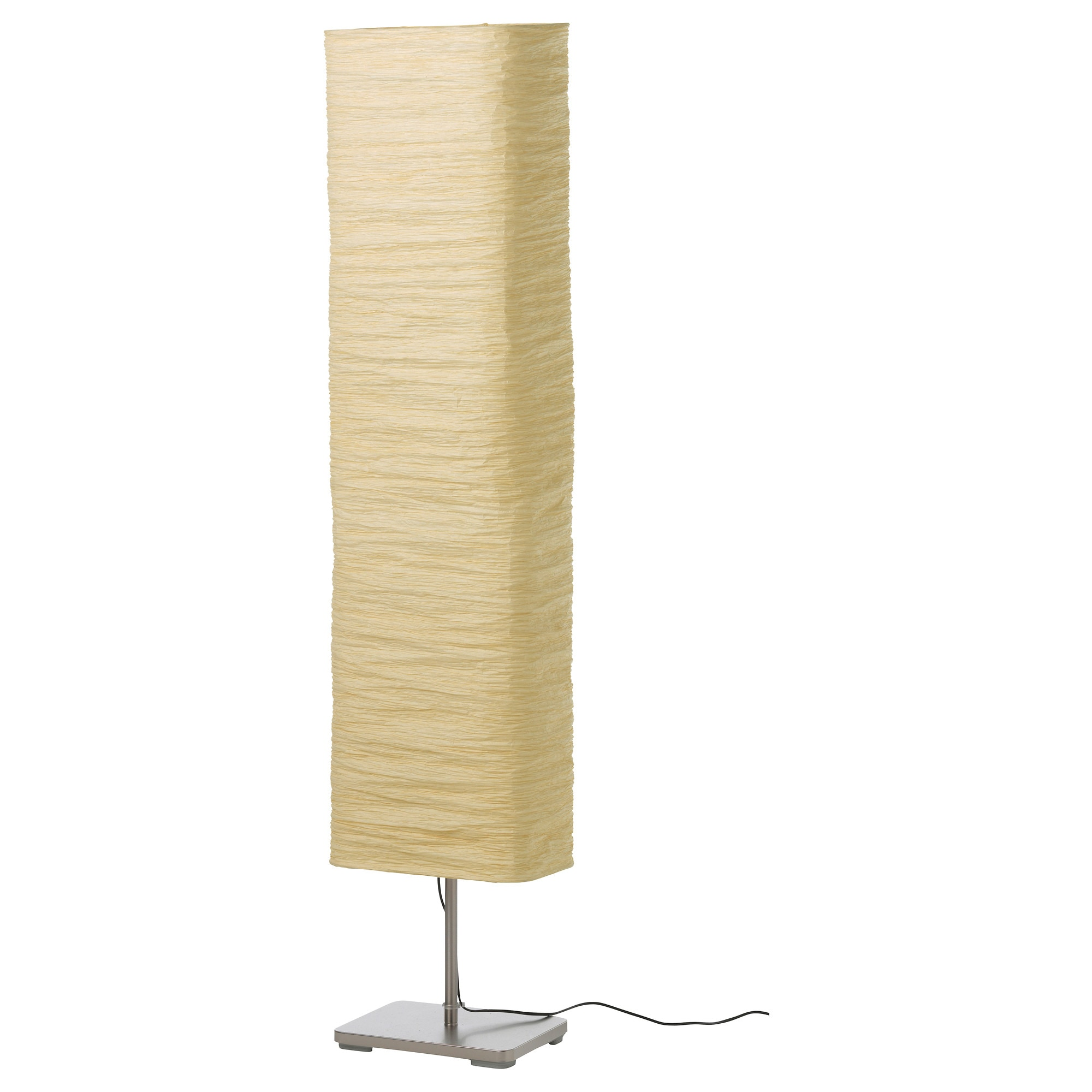 floor lamps  lighting  ikea - magnarp floor lamp natural max  w shade width  cm height