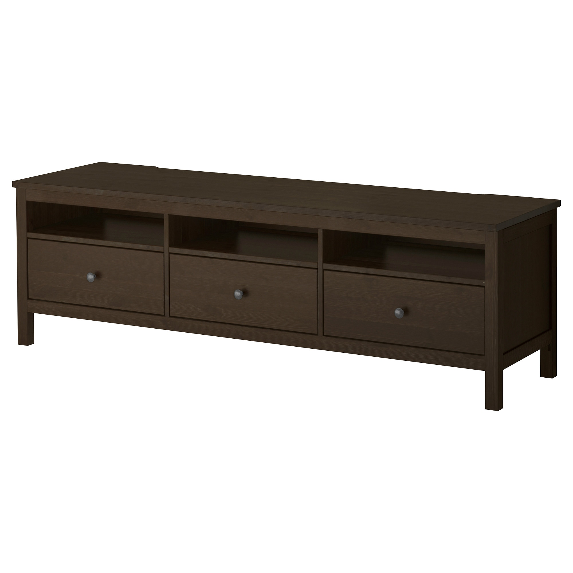 hemnes tv bench black brown ikea - Media Stand Ikea