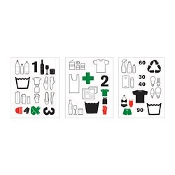 DALLIDEN decoration stickers, waste & sort