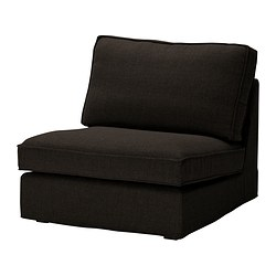 KIVIK one-seat section, Tenö black Width: 90 cm Depth: 98 cm Height: 83 cm
