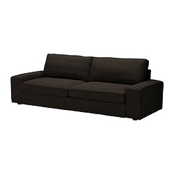 KIVIK three-seat sofa-bed, Tenö black Width: 245 cm Depth: 95 cm Height: 83 cm