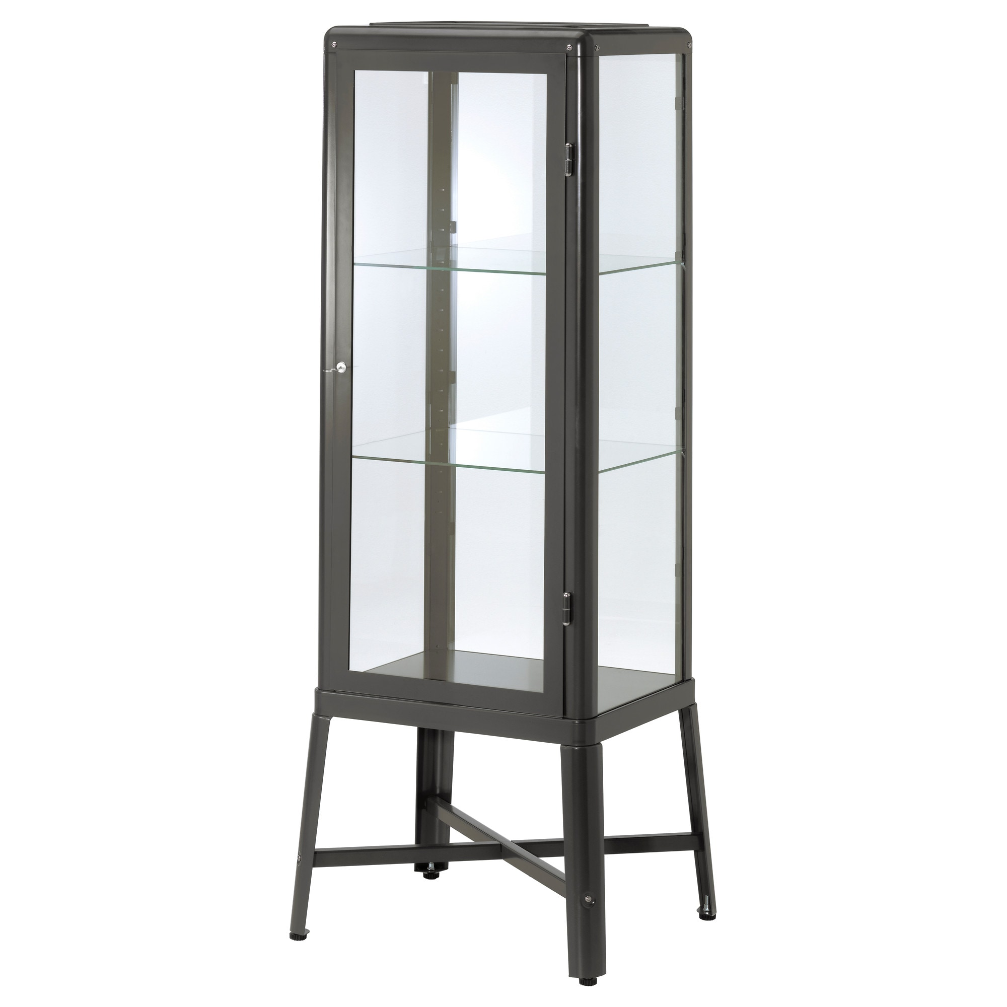 Metal Glass Display Cabinet Fabrikr Glass Door Cabinet Beige Ikea