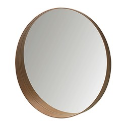 STOCKHOLM mirror, walnut veneer Depth: 10 cm Diameter: 80 cm