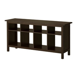 HEMNES, Console table, black-brown