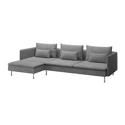 SÖDERHAMN three-seat sofa and chaise longue Width: 291 cm Min. depth: 99 cm Max. depth: 151 cm
