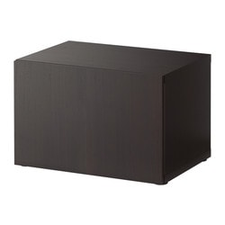 BESTÅ shelf unit with door, black-brown Width: 60 cm Depth: 40 cm Height: 38 cm