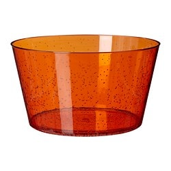 "PLACERA serving bowl, orange Diameter: 9 "" Height: 5 1/8 "" Diameter: 23 cm Height: 13 cm"