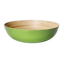 RUNDLIG serving bowl, green, green bamboo Diameter: 30 cm Height: 9 cm