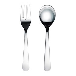 DRAGON 2-piece salad servers set, stainless steel