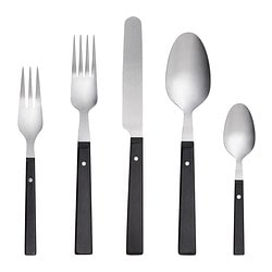 MOGEN 20-piece flatware set, black