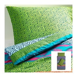 LAPPLJUNG quilt cover and 2 pillowcases, multicolour Quilt cover length: 200 cm Quilt cover width: 150 cm Pillowcase length: 50 cm