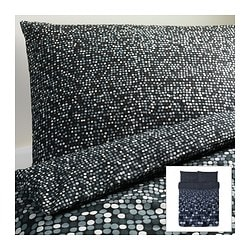 "SMÖRBOLL duvet cover and pillowcase(s), gray Duvet cover length: 86 "" Duvet cover width: 86 "" Pillowcase length: 20 "" Duvet cover length: 218 cm Duvet cover width: 218 cm Pillowcase length: 51 cm"