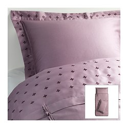 VINRANKA quilt cover and 2 pillowcases, lilac Quilt cover length: 200 cm Quilt cover width: 150 cm Pillowcase length: 50 cm