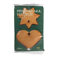 PEPPARKAKA FIGURER gingerbread hearts & stars Net weight: 4.2 oz Net weight: 120 g