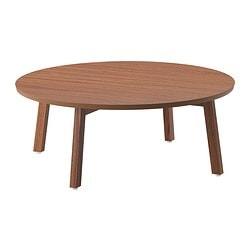 STOCKHOLM coffee table, walnut veneer Diameter: 93 cm Height: 35 cm