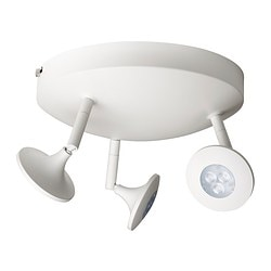 CENTIGRAD LED ceiling spotlight with 3 spots