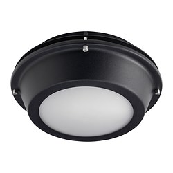 UPPLID ceiling/wall lamp, outdoor black Diameter: 25 cm Height: 11 cm