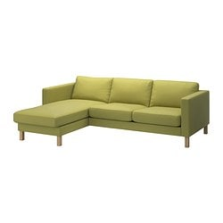 KARLSTAD two-seat sofa and chaise longue Width: 244 cm Min. depth: 93 cm Max. depth: 158 cm