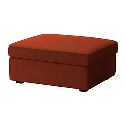 KIVIK cover for footstool with storage