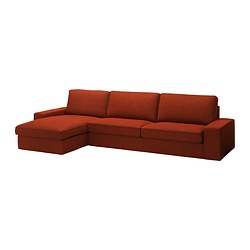 KIVIK three-seat sofa and chaise longue Max. width: 318 cm Min. depth: 95 cm Max. depth: 163 cm