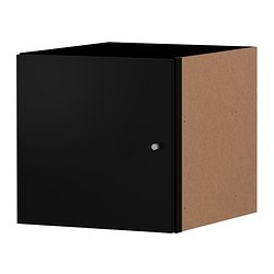 EXPEDIT insert with door, black Width: 33 cm Depth: 37 cm Height: 33 cm
