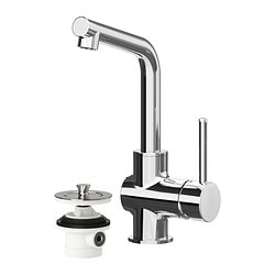 "LUNDSKÄR bath faucet with strainer, chrome plated Height: 9 7/8 "" Height: 25 cm"