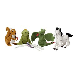 "GULLEPLUTT finger puppet, assorted designs Length: 4 3/8 "" Length: 11 cm"