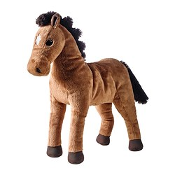 ÖKENLÖPARE soft toy, horse Length: 36 cm