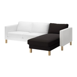 KARLSTAD chaise longue, add-on unit, Tenö black Width: 80 cm Depth: 160 cm Height: 80 cm